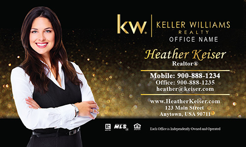 Keller Williams Business Card Holiday Glitter - Design #103353
