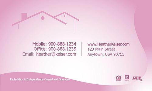 Keller Williams Business Card Cute Pink - Design #103361