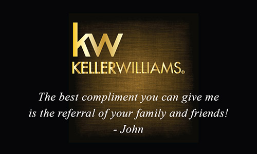 Keller Williams Gold Logo Realtor Business Card - Design #103383