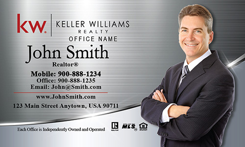 Keller Williams Business Card Silver Stainless - Design #103391