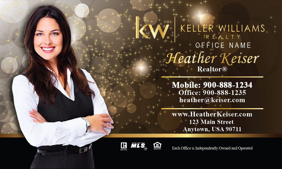 Williams realtor business card gold glitter sparkle design 103421 keller williams realtor business card gold glitter sparkle design 103421 wajeb Images