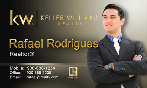 Brown Keller Williams Business Card - Design #103491