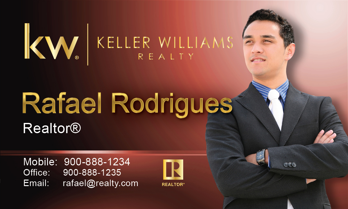 Keller williams realty business card templates online free ship red keller williams business card design 103492 red flashek Images