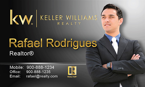 Gray Keller Williams Business Card - Design #103493