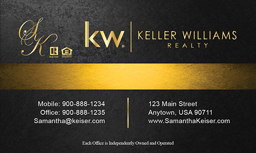 Black Keller Williams Business Card - Design #103501