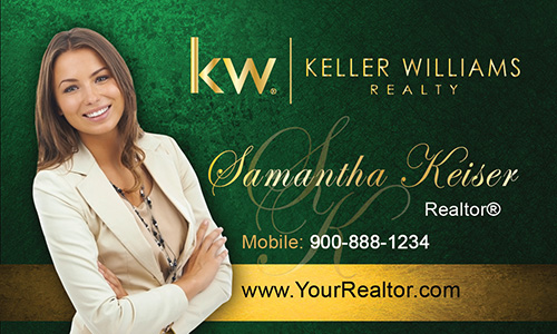 Green Keller Williams Business Card - Design #103504