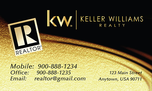 Black Keller Williams Business Card Design