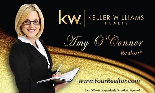 Black Keller Williams Business Card - Design #103521