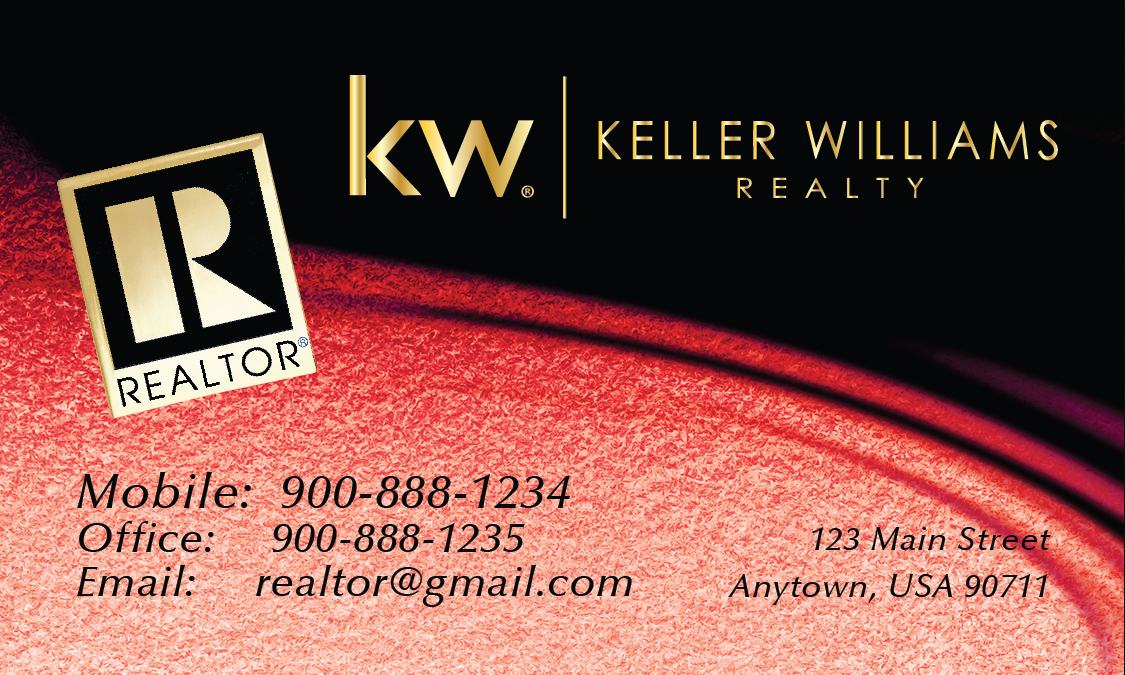 Red Keller Williams Business Card Design