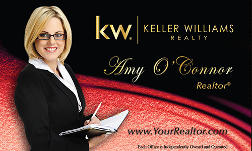 Red Keller Williams Business Card - Design #103522