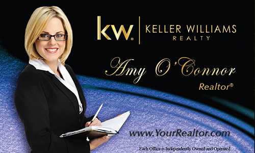 Blue Keller Williams Business Card - Design #103523