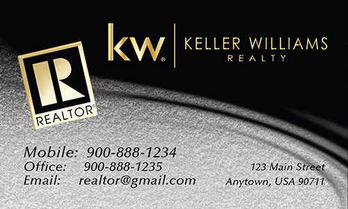 Gray Keller Williams Business Card - Design #103524