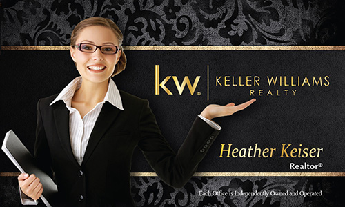 Black Keller Williams Business Card - Design #103531