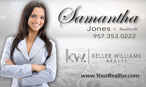 Gray Keller Williams Business Card - Design #103541