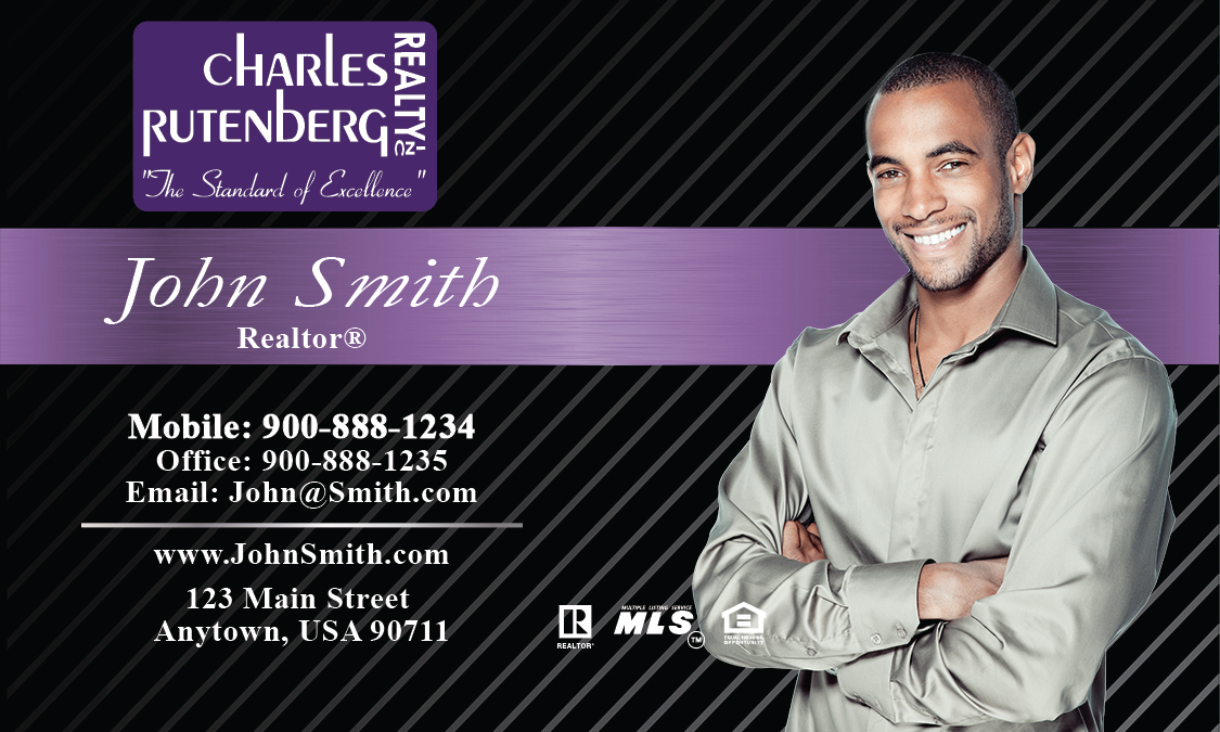 Black Charles Rutenberg Realty Business Card - Design #131021