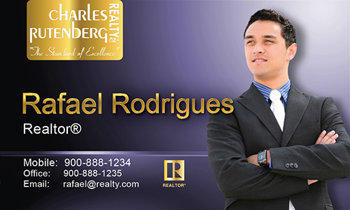 Purple Charles Rutenberg Realty Business Card - Design #131031