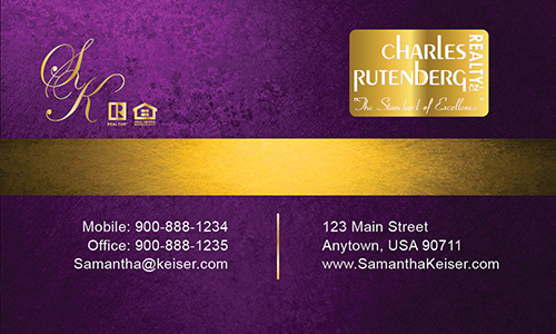 Purple Charles Rutenberg Realty Business Card - Design #131041