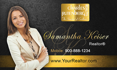 Black Charles Rutenberg Realty Business Card - Design #131042