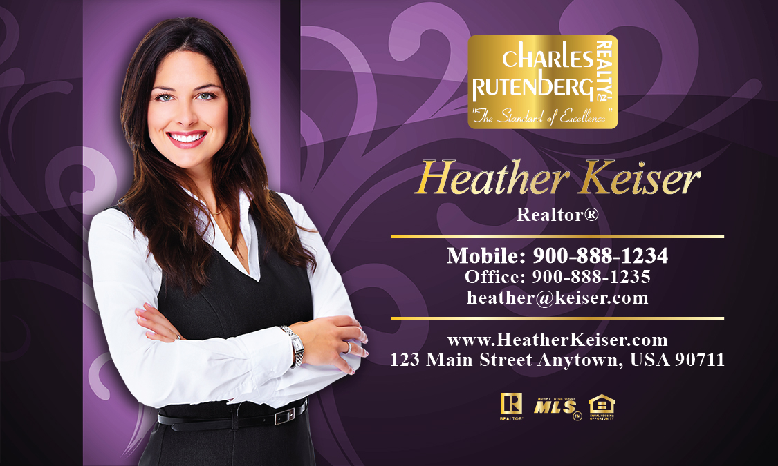 Purple Charles Rutenberg Realty Business Card - Design #131051