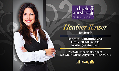 Black Charles Rutenberg Realty Business Card - Design #131052