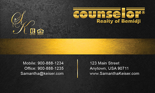 Black Counselor Realty of Bemidji Business Card - Design #132042