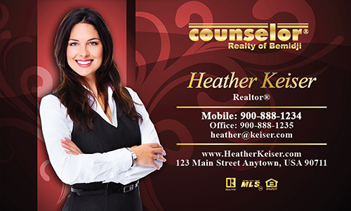 Red Counselor Realty of Bemidji Business Card - Design #132051