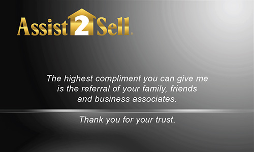 Black Assist 2 Sell Business Card - Design #133031