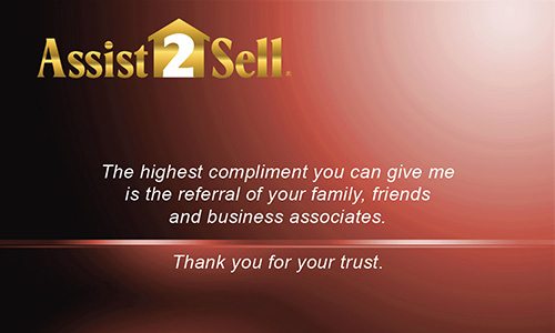 Red Assist 2 Sell Business Card - Design #133032