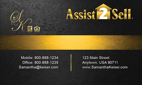 Black Assist 2 Sell Business Card - Design #133041