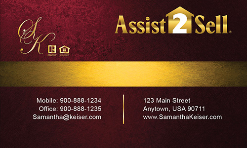 Red Assist 2 Sell Business Card - Design #133042