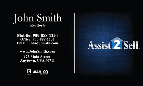 Blue Assist 2 Sell Business Card - Design #133051