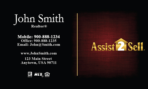 Red Assist 2 Sell Business Card - Design #133052