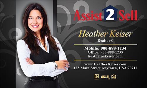 Black Assist 2 Sell Business Card - Design #133061