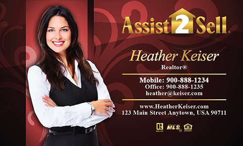 Red Assist 2 Sell Business Card - Design #133062