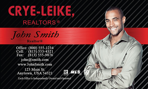 Black Crye Leike Realtors Business Card - Design #134021