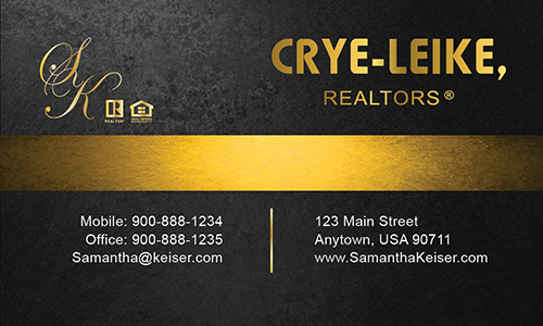 Black Crye Leike Realtors Business Card - Design #134042