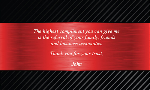 Red Daprile Properties Business Card - Design #135021