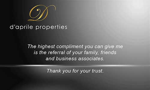 Black Daprile Properties Business Card - Design #135031