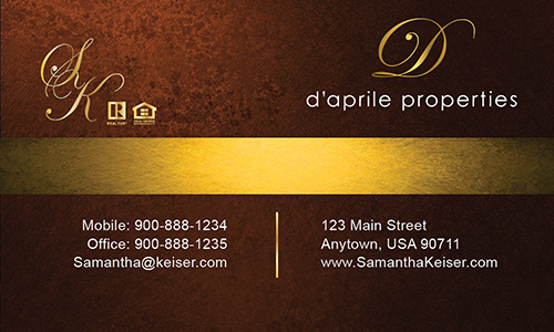 Brown Daprile Properties Business Card - Design #135041