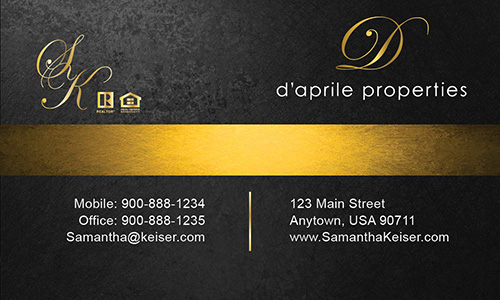 Black Daprile Properties Business Card - Design #135042