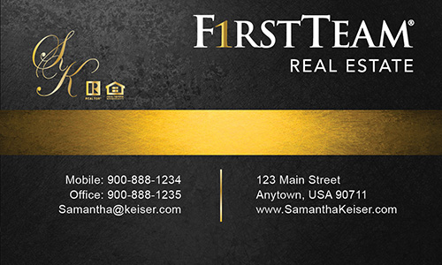 First team real estate business cards printifycards black first team real estate business card design 136041 colourmoves
