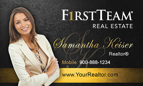 Black First Team Real Estate Business Card - Design #136041
