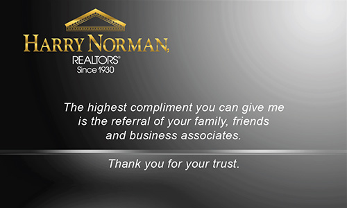Black Harry Norman Realtors Business Card - Design #137032