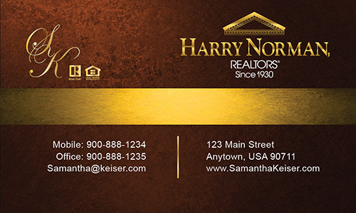 Brown Harry Norman Realtors Business Card - Design #137041