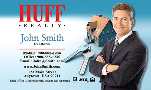 Blue Huff Realty Business Card - Design #138011