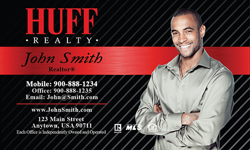 Red huff realty business card design 138021 for Huff realty