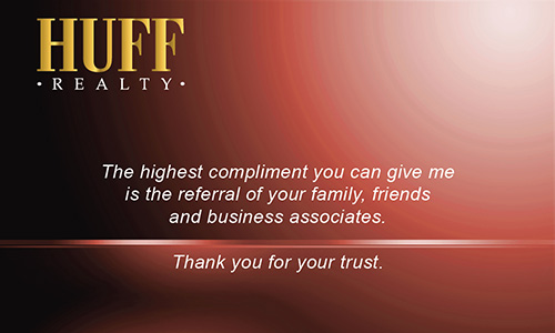 Red Huff Realty Business Card - Design #138031