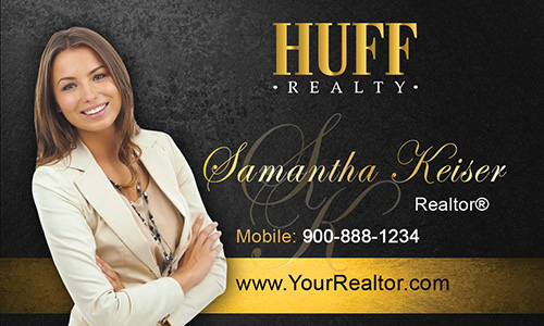 Black Huff Realty Business Card - Design #138041