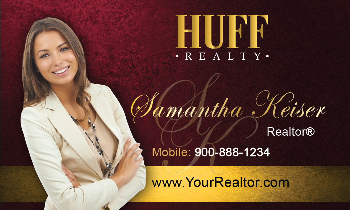 Huff realty business cards templates printifycards for Huff realty