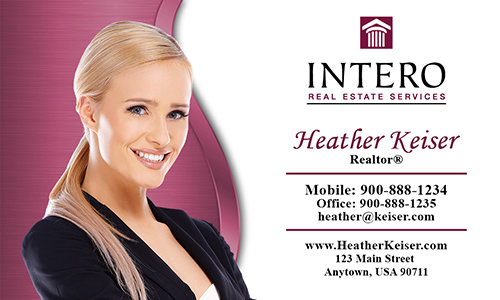 Red Intero Real Estate Services Business Card - Design #139051